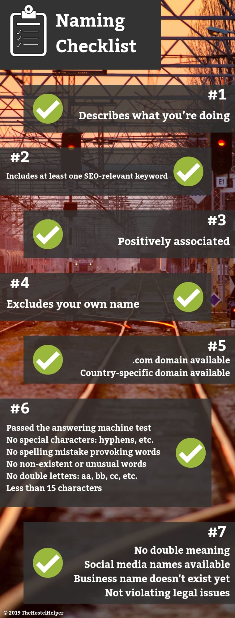 Infographic - Naming Checklist - How to Choose A Domain Name