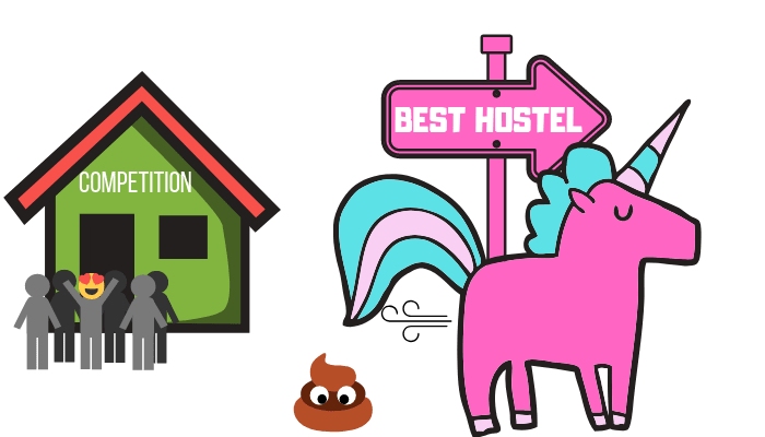 Pink Unicorn - Hostel Marketing Definition
