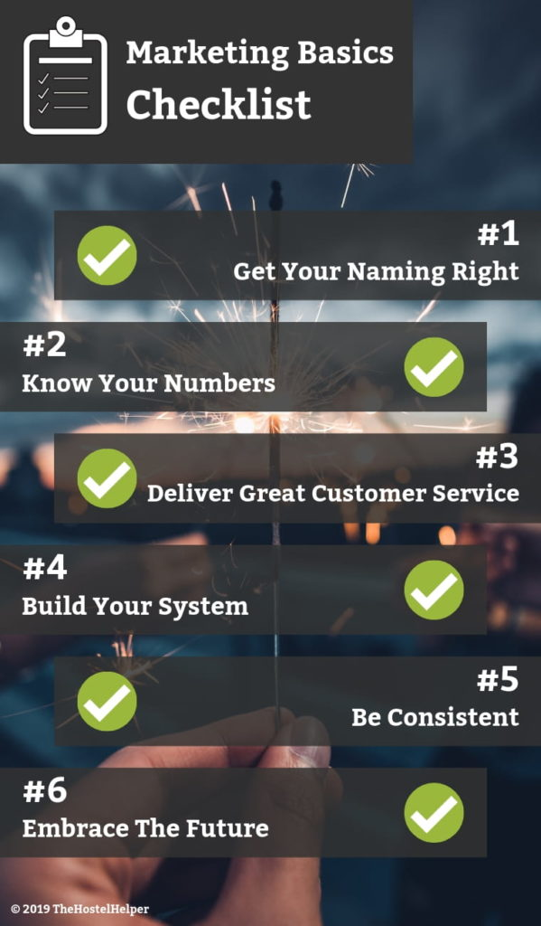 Infographic Marketing Basics Checklist