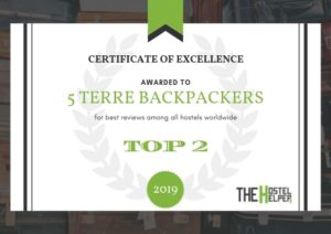 5 Terre Backpackers - Best Hostel Worldwide