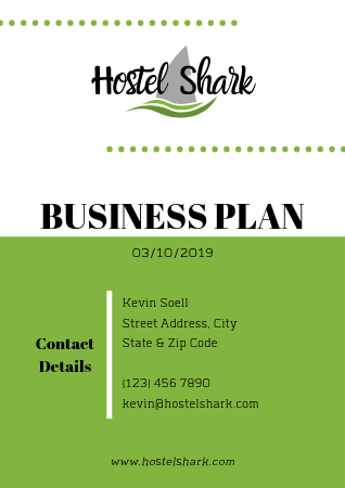 Hostel Business Plan Cover