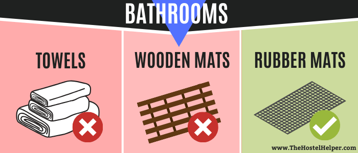 Wooden & Rubber Bathroom Mats