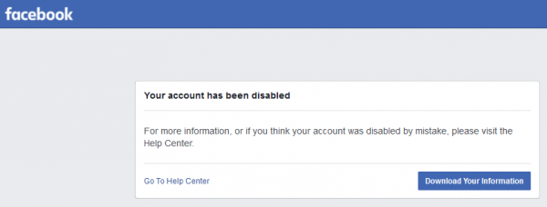Facebook Disabled - Hostel Social Media